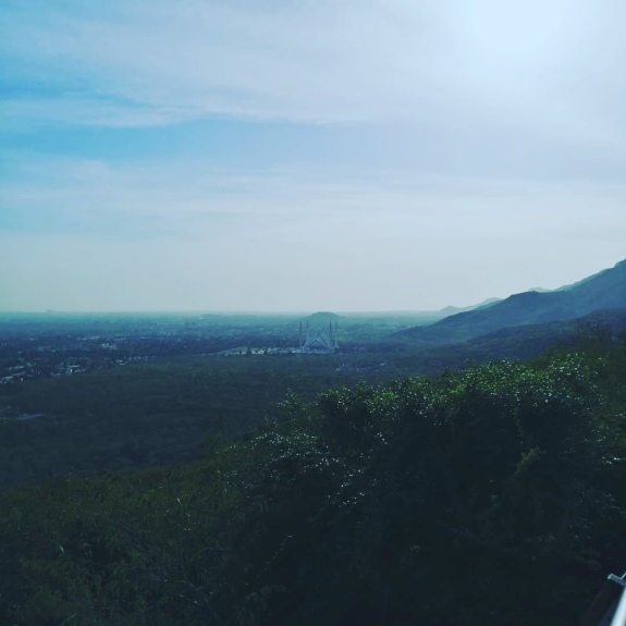 Faisal Mosque view from Daman-e-Koh, Islamabad