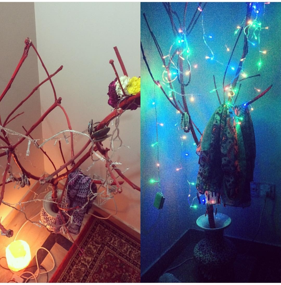 Fun DIY tree branch decor