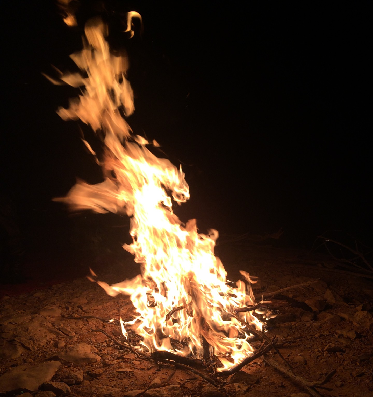 Bonfire at Gorakh Hill