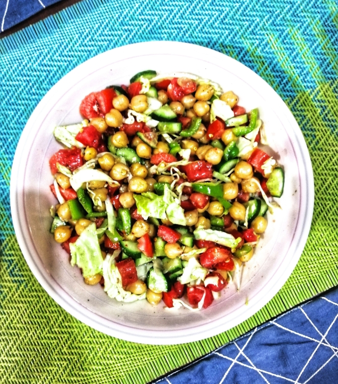 Quick chickpea salad recipe